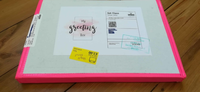 My Greeting Box Subscription Box Review October 2018