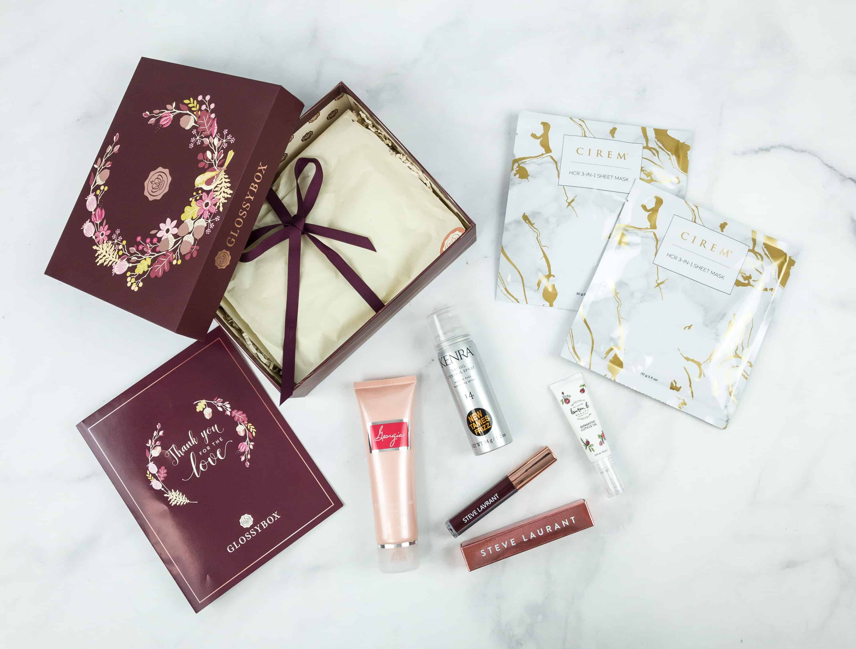 November 2018 GLOSSYBOX Subscription Box Review + Coupon