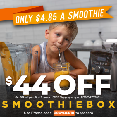 SmoothieBox Cyber Monday Deal ENDS TONIGHT: Get $22 Off Your First Two Boxes + FREE Shipping!