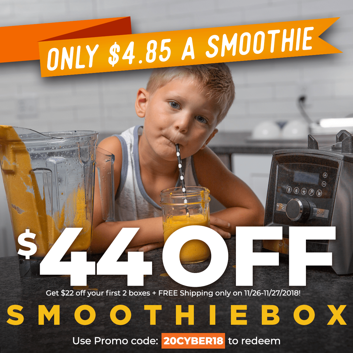 SmoothieBox Cyber Monday Coupon: Get $22 Off Your First Two Boxes + FREE Shipping!