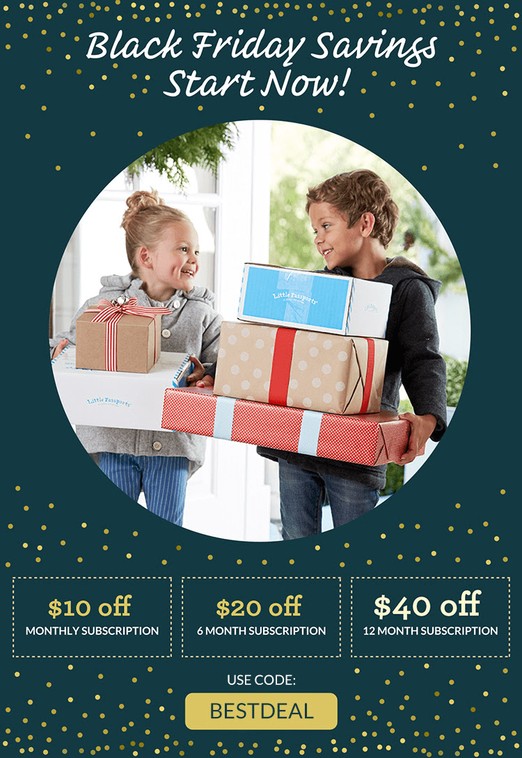 Little Passports Black Friday 2018 Coupon: Get Up $40 Off!