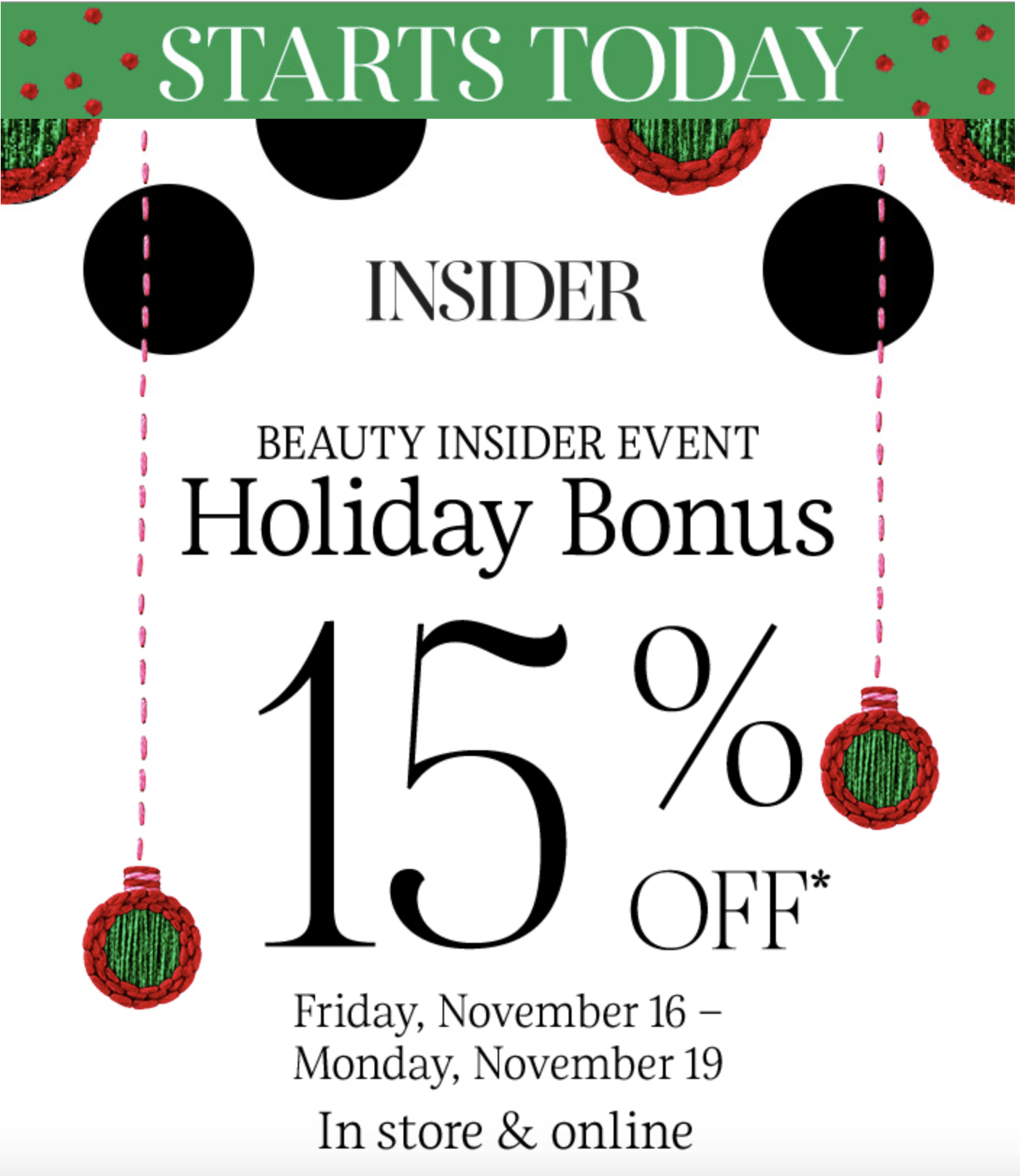 LAST DAY Sephora Holiday Beauty Insider Sale: Rouge & VIB 20% Off + Insiders Save 15% Off EVERYTHING!