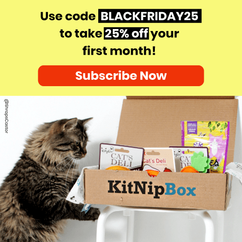 KitNipBox Cat Subscription Box Black Friday Deal: 25% Off First Month! - hello subscription