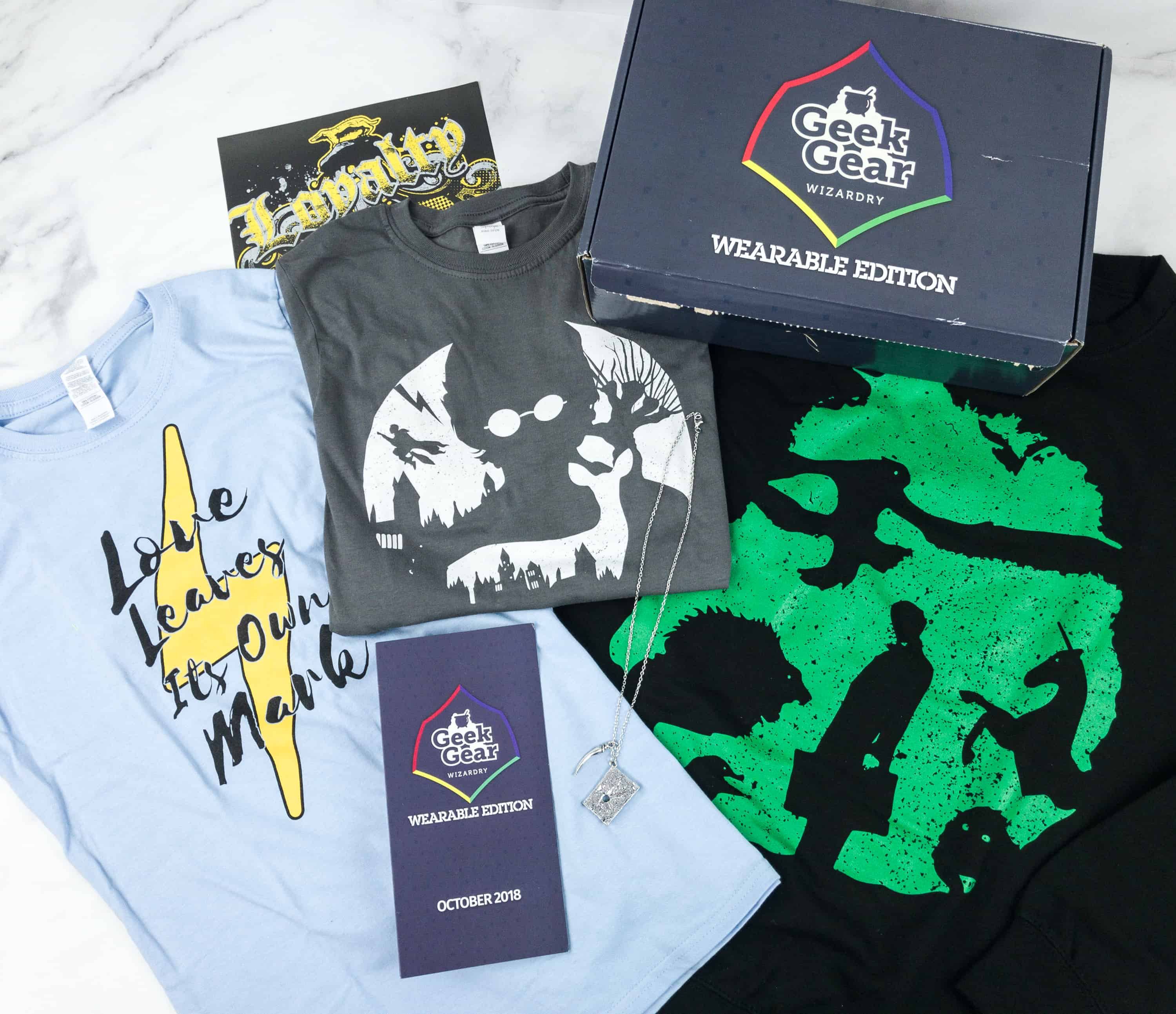 Geek Gear World of Wizardry Wearables October 2018 Subscription Box Review + Coupon