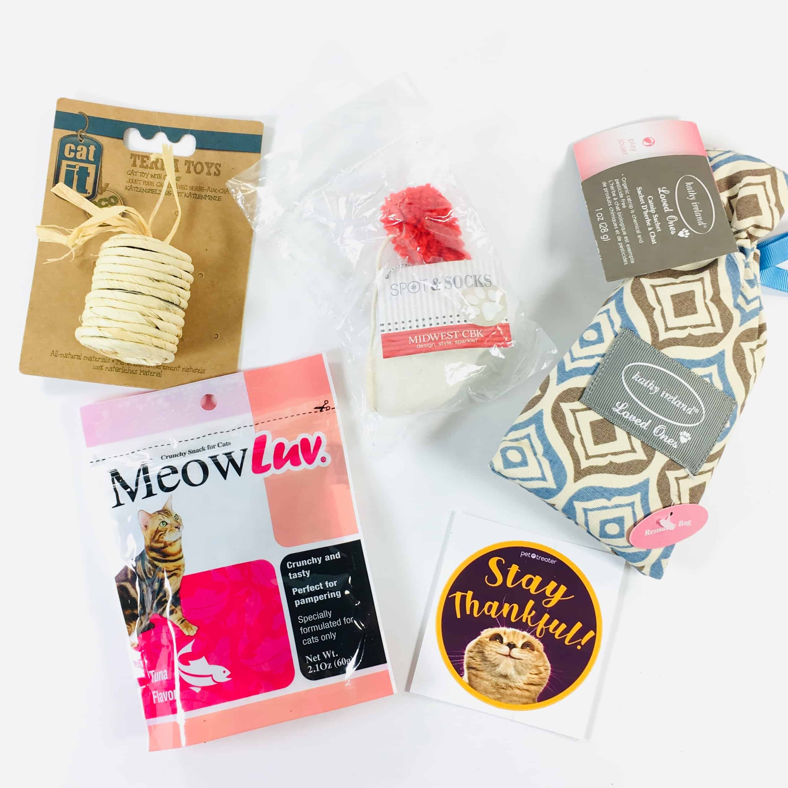 Pet Treater Cat Pack November 2018 Subscription Box Review + Coupon