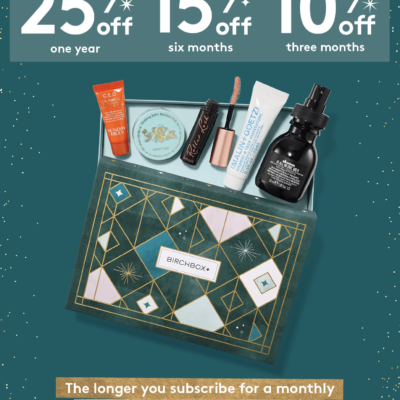 Birchbox Black Friday 2018 Sale: Subscription Plans Up to 25% Off!