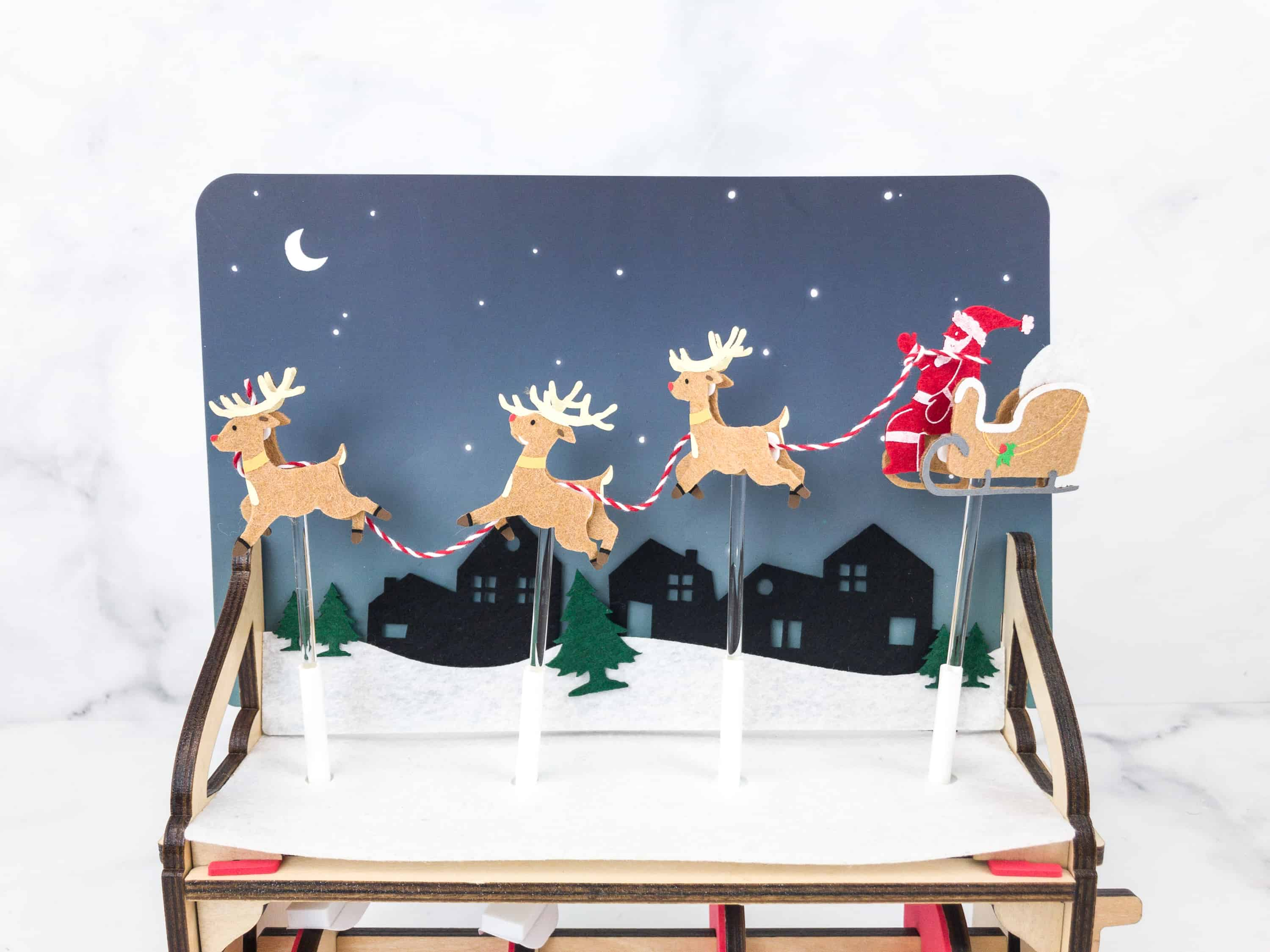 Kiwi Crate Holiday Box Review –  SANTA'S SLEIGH AUTOMATON