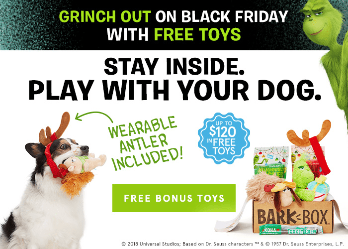 BarkBox Cyber Monday Coupon: Get FREE Bonus Toy Every Month With 3+ Month Subscription!