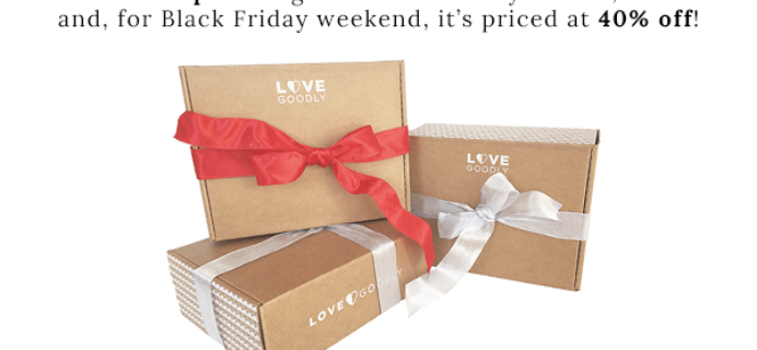 LOVE GOODLY Cyber Monday Coupons: 40% off + Free US Shipping on Holiday Bundles!