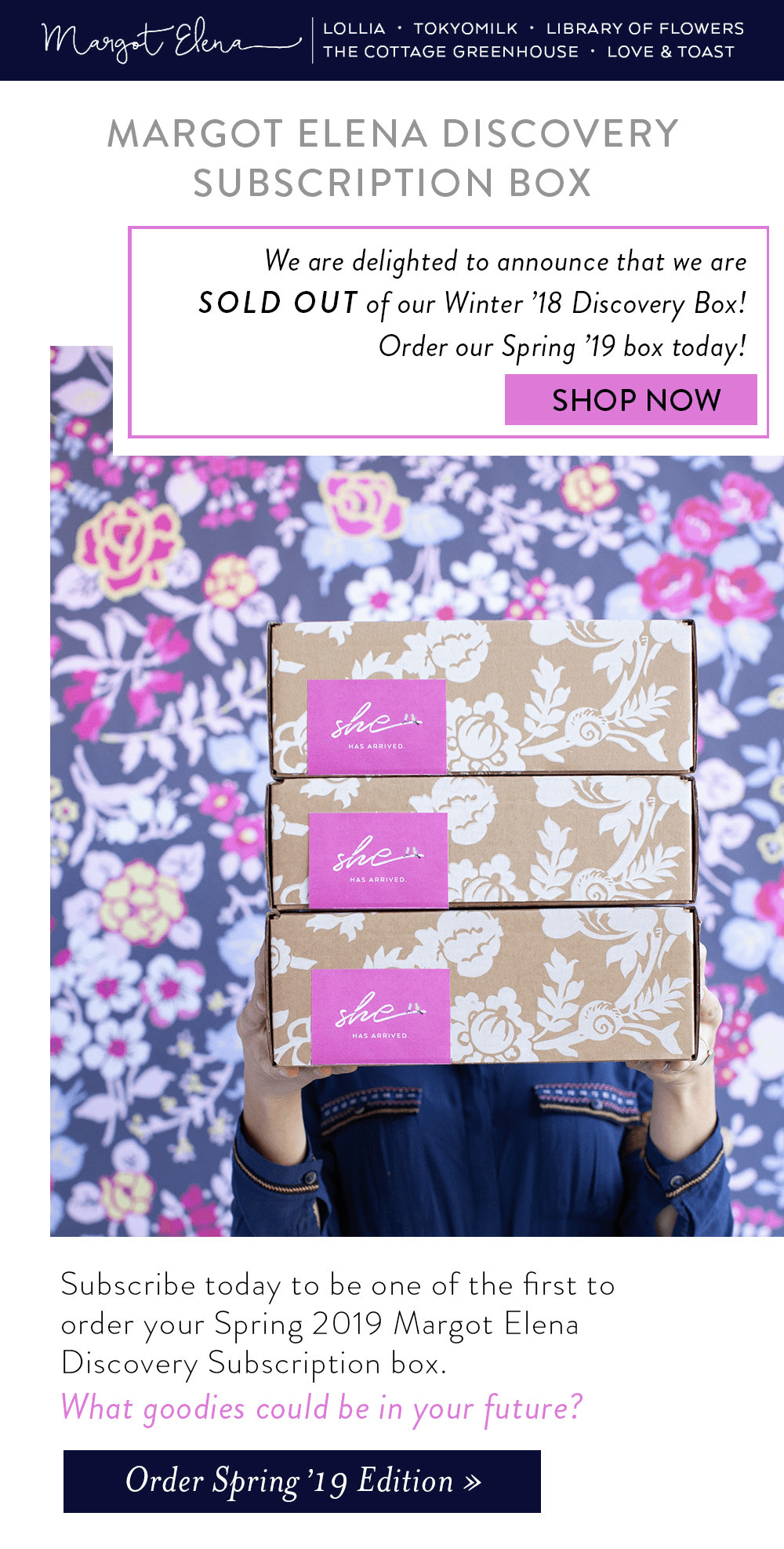 Spring 2019 Margot Elena Discovery Box Available Now