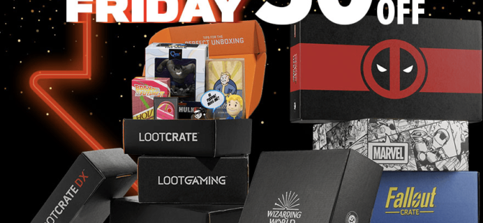 Loot Crate Black Friday Sale – 50% Off Nearly ALL Crates!