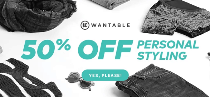 Wantable Style Edit Styling Fee HALF OFF for Black Friday!