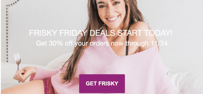 Frisky Britches Black Friday Coupon: 30% Off Subscriptions!