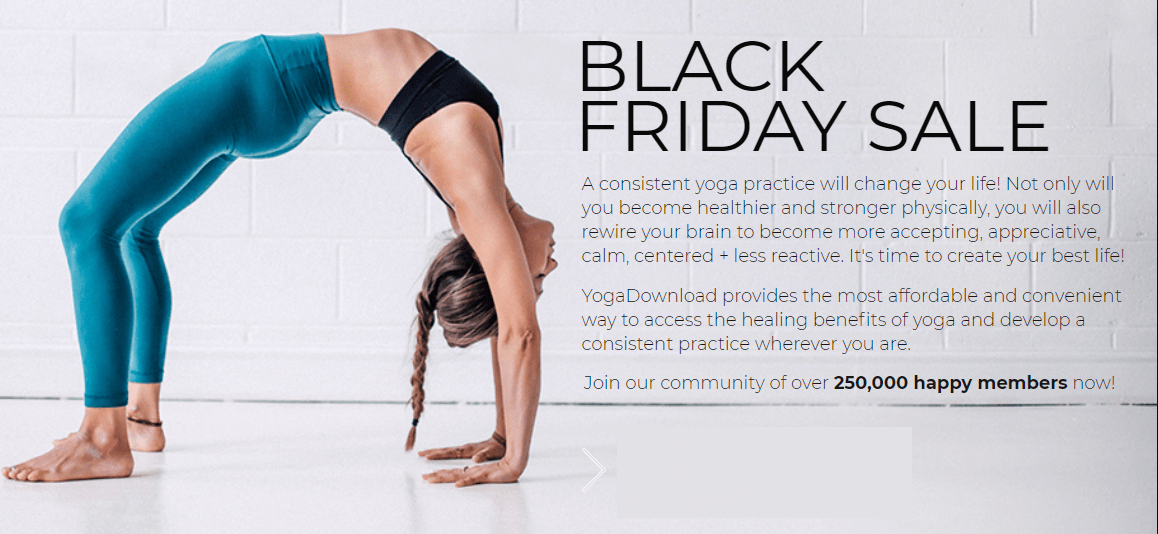 Yoga Download Black Friday 2018 Coupon: Get 50% Off Your Subscription!