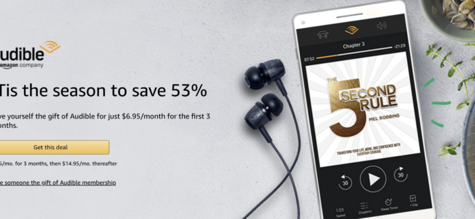 Amazon Audible Black Friday Deal: $6.95/Month for 3 Months!