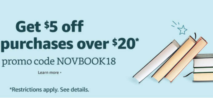 Amazon.com Black Friday Deal! RARE $5 Off Any Book Purchase $20+