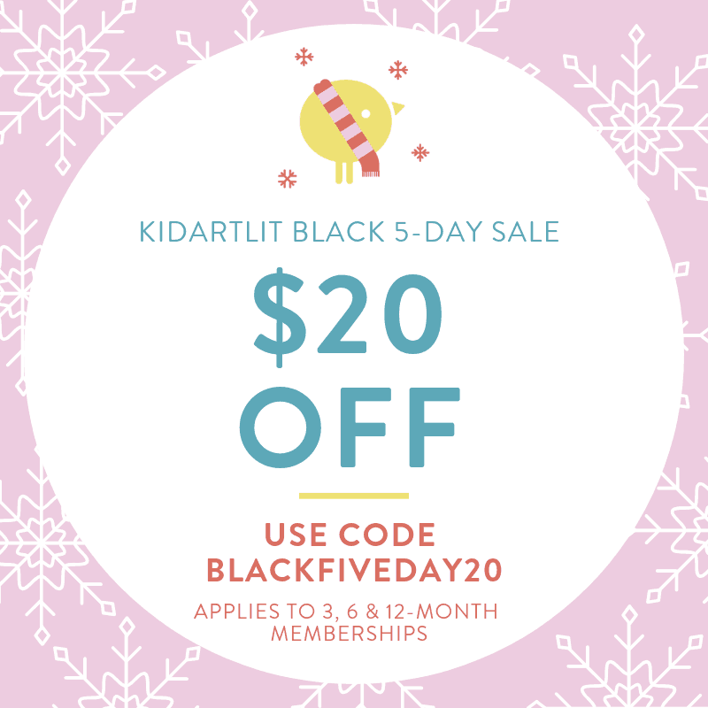 KidArtLit Cyber Monday Coupon: Save $20 on Prepaid Subscriptions!