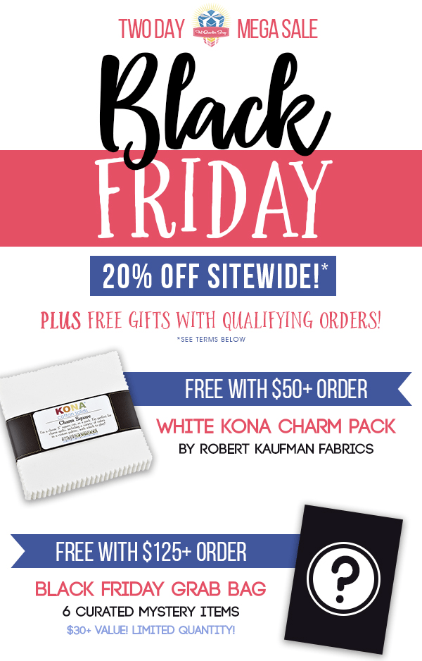 Fat Quarter Shop Black Friday Sale: Save 20%!