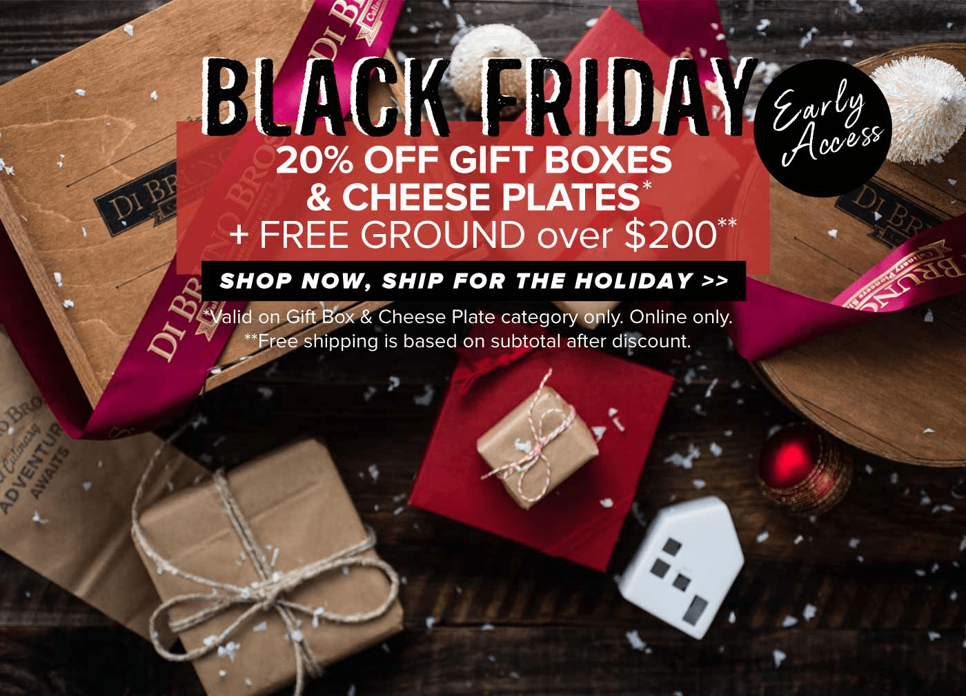 DiBruno Bros Black Friday 2018 Coupon: Save 20% on Gifts + Free Shipping On $200+ Orders!