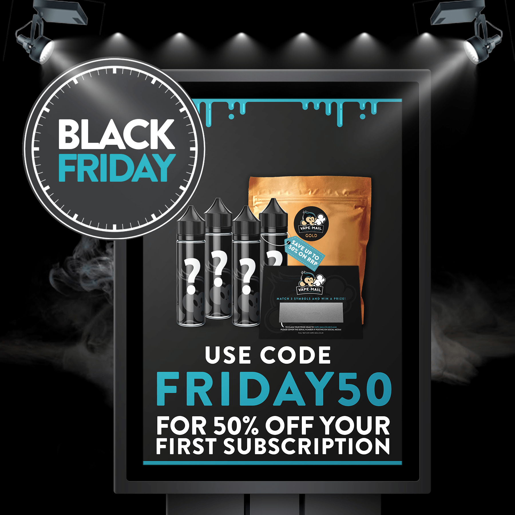 Vape Mail Black Friday 2018 Deals – Get 50% OFF Your Subscription + 20% OFF for Mystery Box for Subscribers!