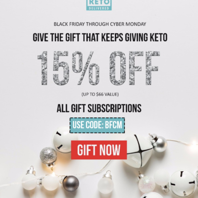 Keto Delivered Black Friday Sale: 15% Off All Gifts!
