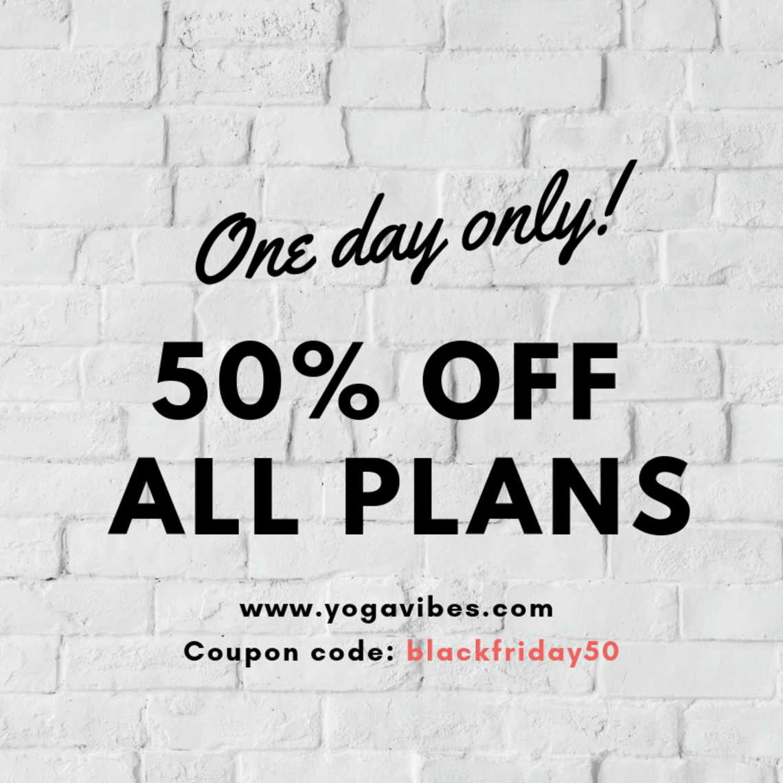 YogaVibes Black Friday 2018 Coupon: Get 50% Off On All Plans!