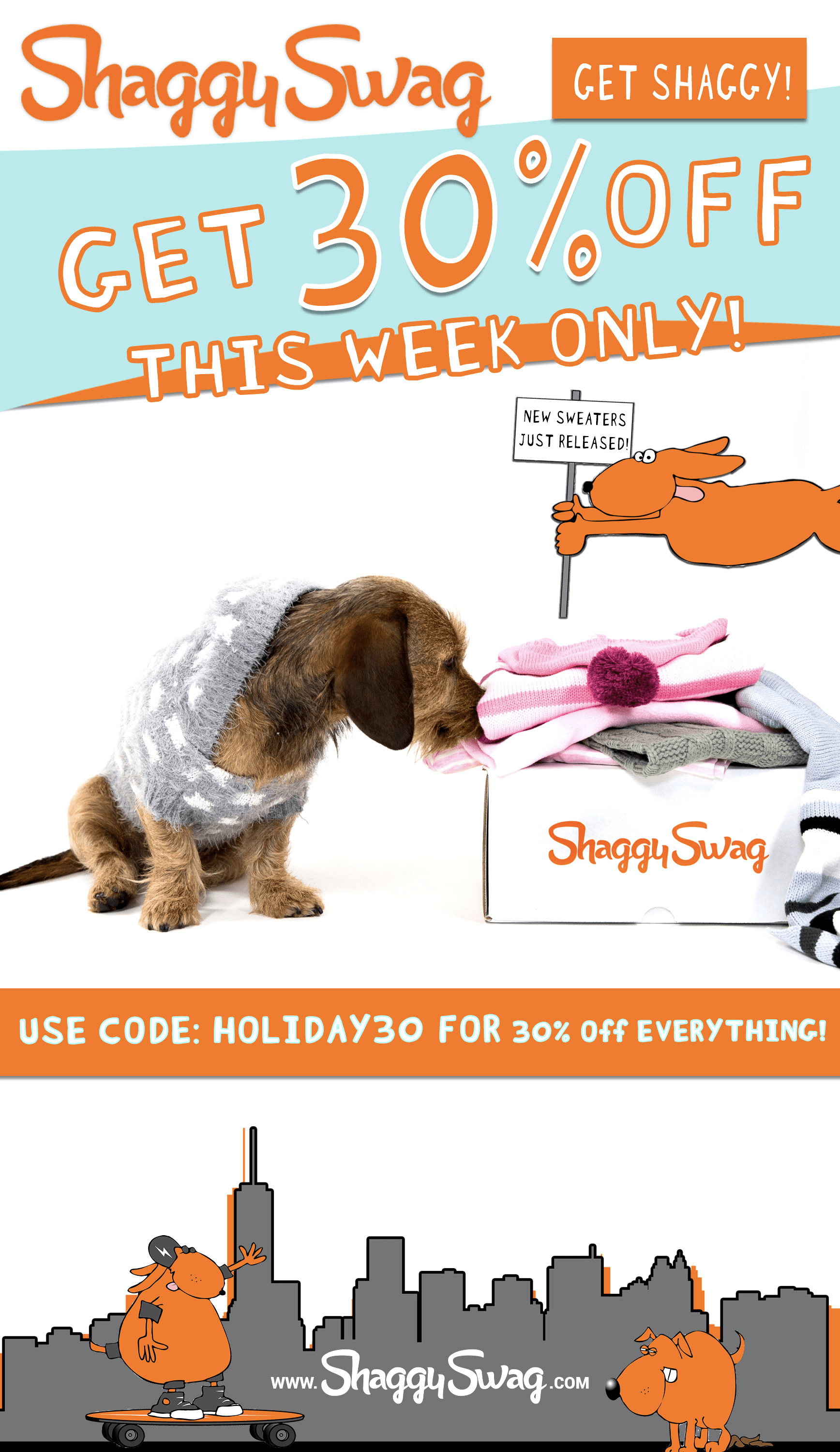 ShaggySwag Cyber Monday Deal: Save 30%!