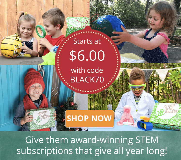 LAST CHANCE for the Green Kid Crafts Black Friday Deal: First Box $6!