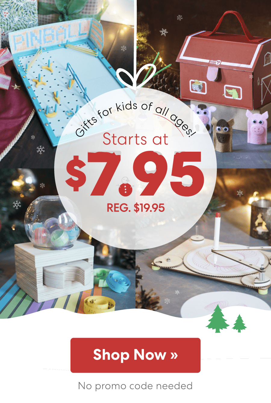 Last Chance to Get KiwiCo Holiday Delivery + First Box $7.95 Coupon!