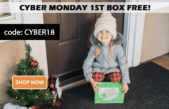 Green Kid Crafts Cyber Monday Coupon EXTENDED: First Box FREE With 3+ Month Subscription!