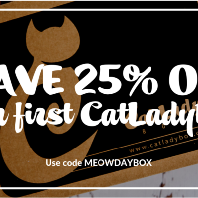 Cat Lady Box Cyber Monday Coupon – 25% Off First Box!