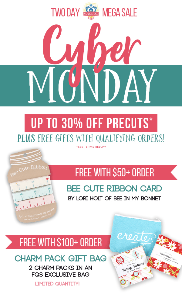 Fat Quarter Shop Cyber Monday Sale: Save 20%!