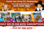 Zoobooks Cyber Monday 2018 Coupon: Subscribe to an Annual Subscription and Get Another Subscription FREE!