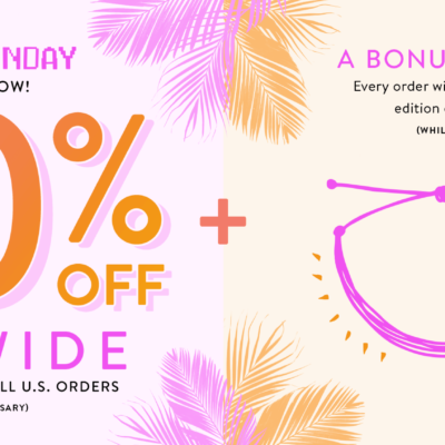 Pura Vida Cyber Monday Deal EXTENDED: 50% Off + FREE Shipping + FREE Limited Edition Mystery Bracelet!