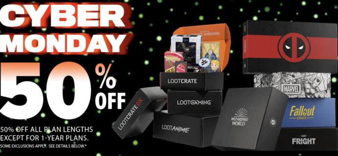 Loot Crate Cyber Monday Sale – 50% Off Nearly ALL Crates!