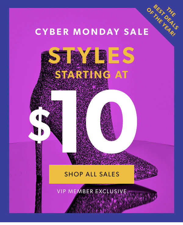 JustFab Cyber Monday Sale: Sale items starting at $10 + New Members First Style $10!