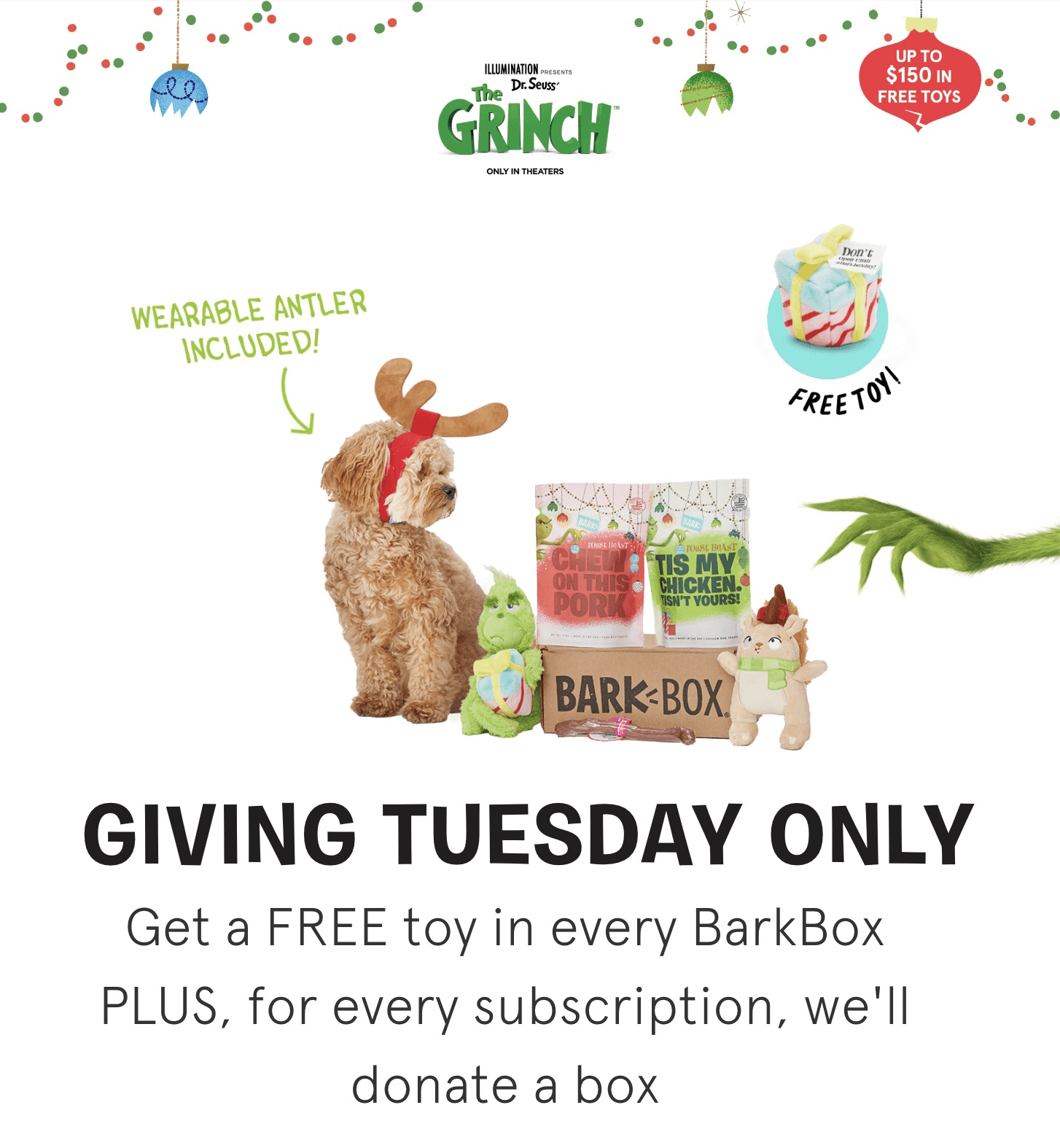 BarkBox Giving Tuesday Coupon: Get FREE Bonus Toys On 6+ Month Subscription + Donate a Box!