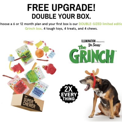 BarkBox Super Chewer Holiday Coupon: Double Your Box First Month Deal + GRINCH!