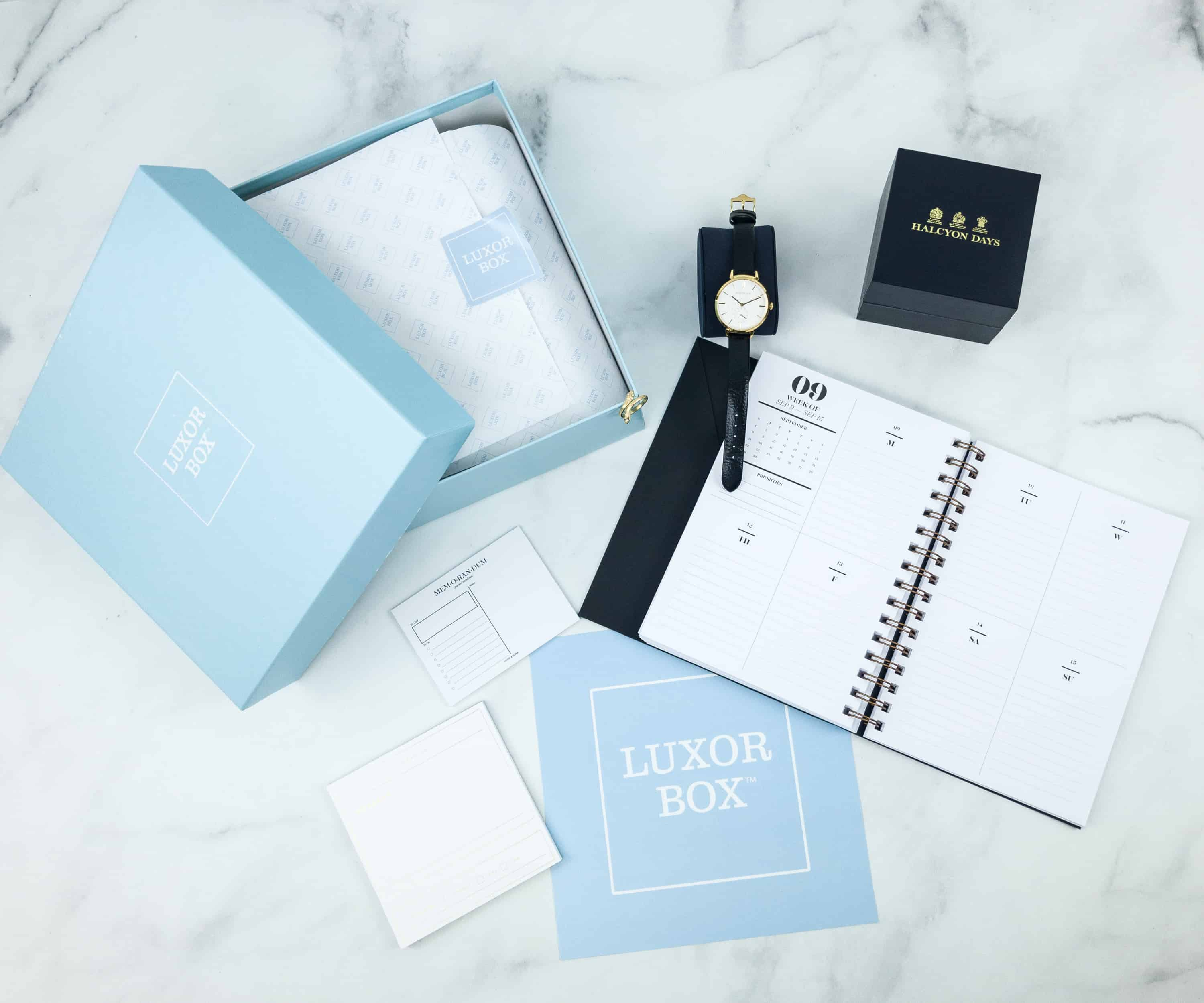 Luxor Box November 2018 Subscription Box Review
