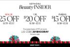 Sephora Holiday Sale: Get Up To $25 Off!