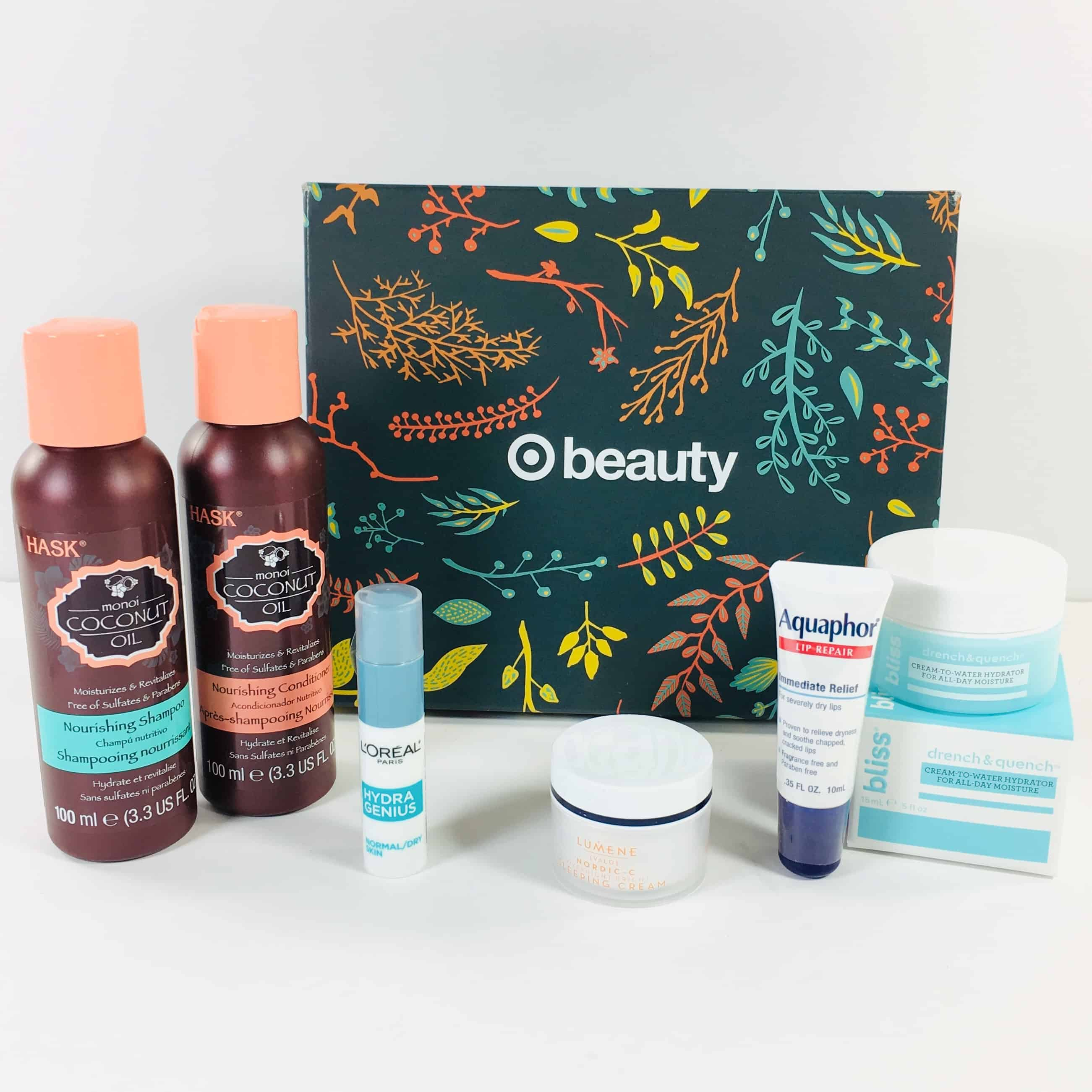 Target Beauty Box Review November 2018 – HELLO HYDRATION