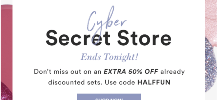 Julep December 2018 CYBER Secret Store – Last Day! 50% Off Coupon!
