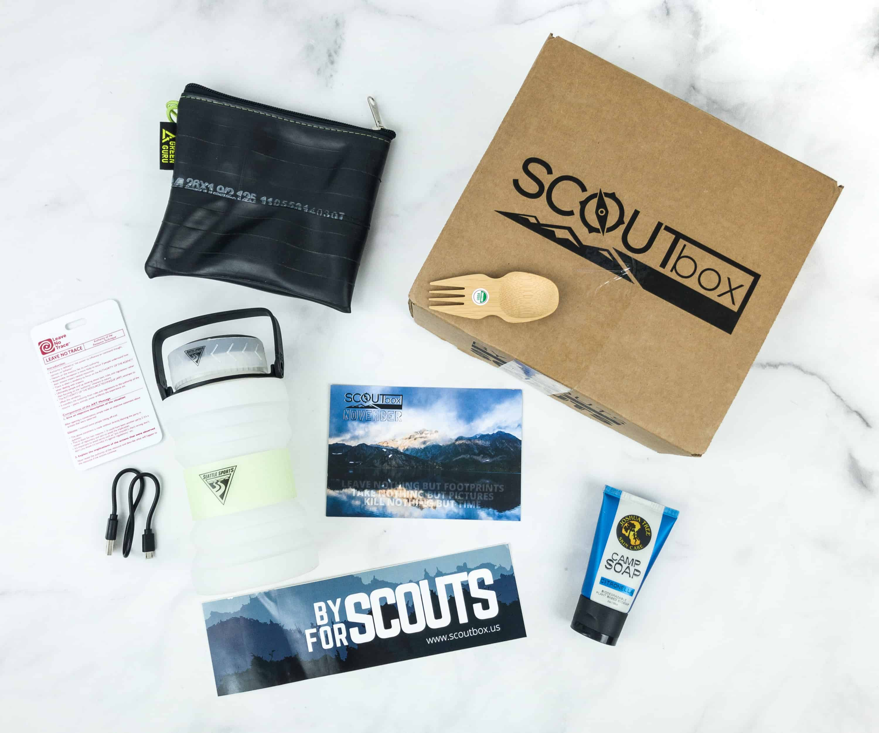 SCOUTbox November 2018 Subscription Box Review + Coupon