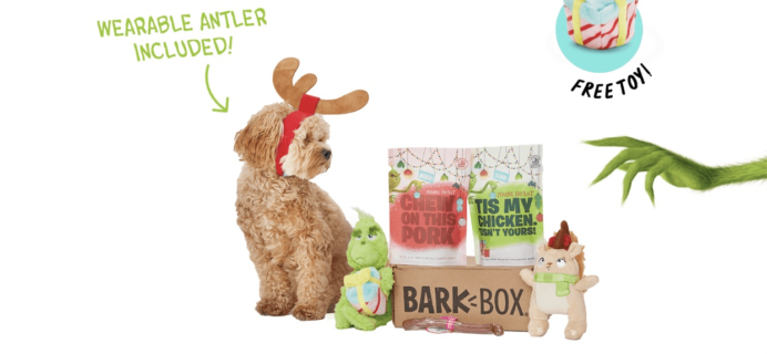 BarkBox Cyber Week Coupon: Get FREE Bonus Toy Every Month!