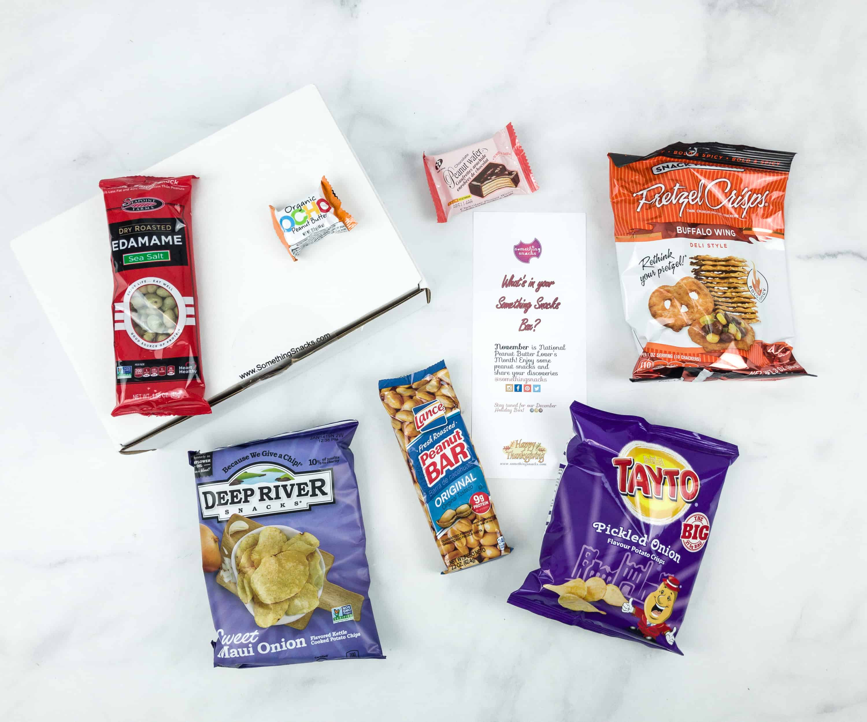 Something Snacks November 2018 Subscription Box Review