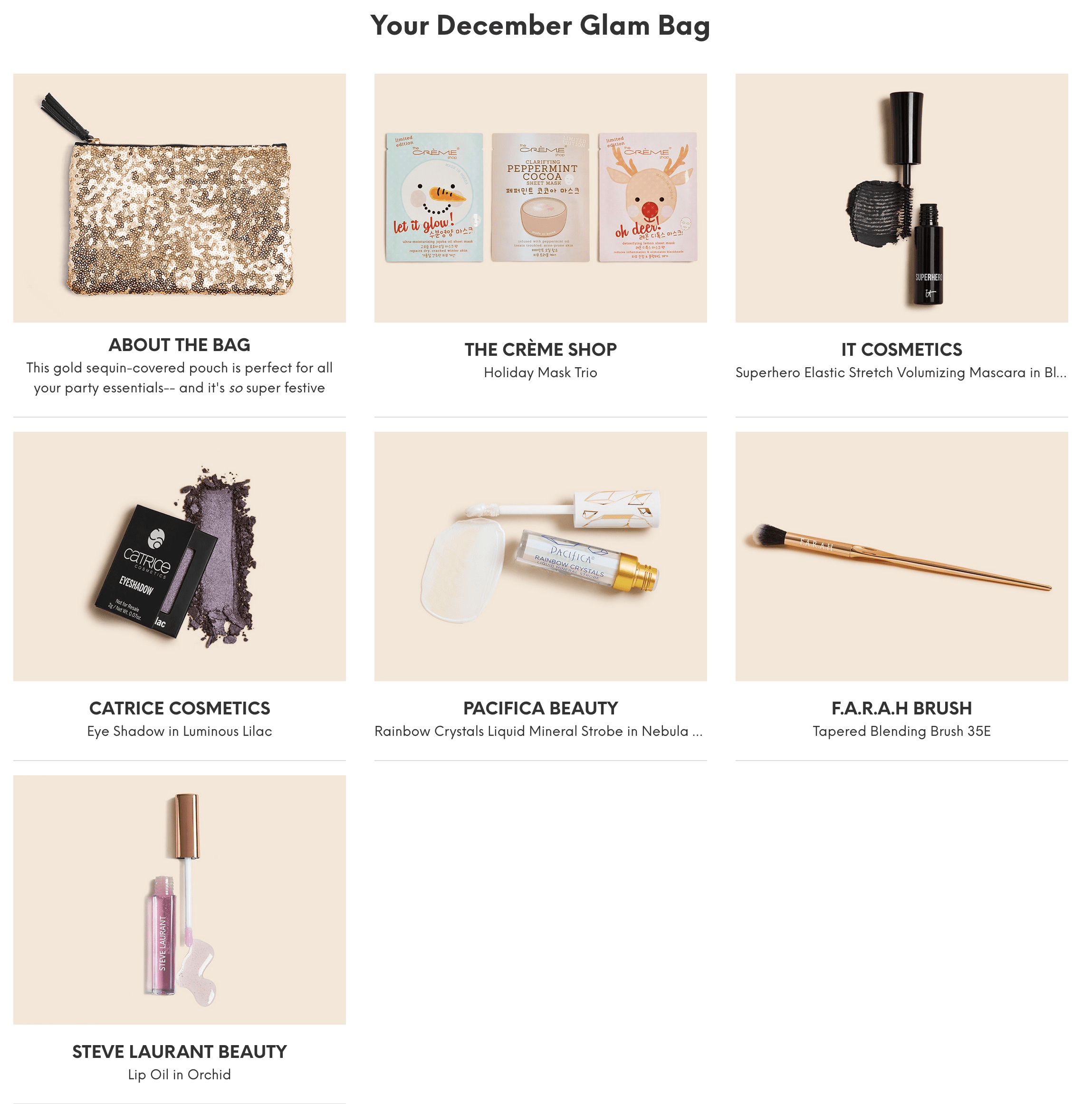 Ipsy December 2018 Glam Bag Reveals Available Now!