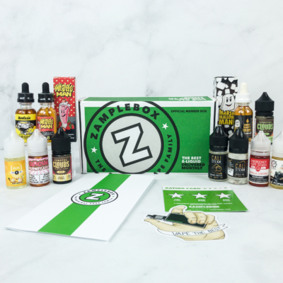 Zamplebox E-Juice November 2018 Subscription Box Review + Coupon!