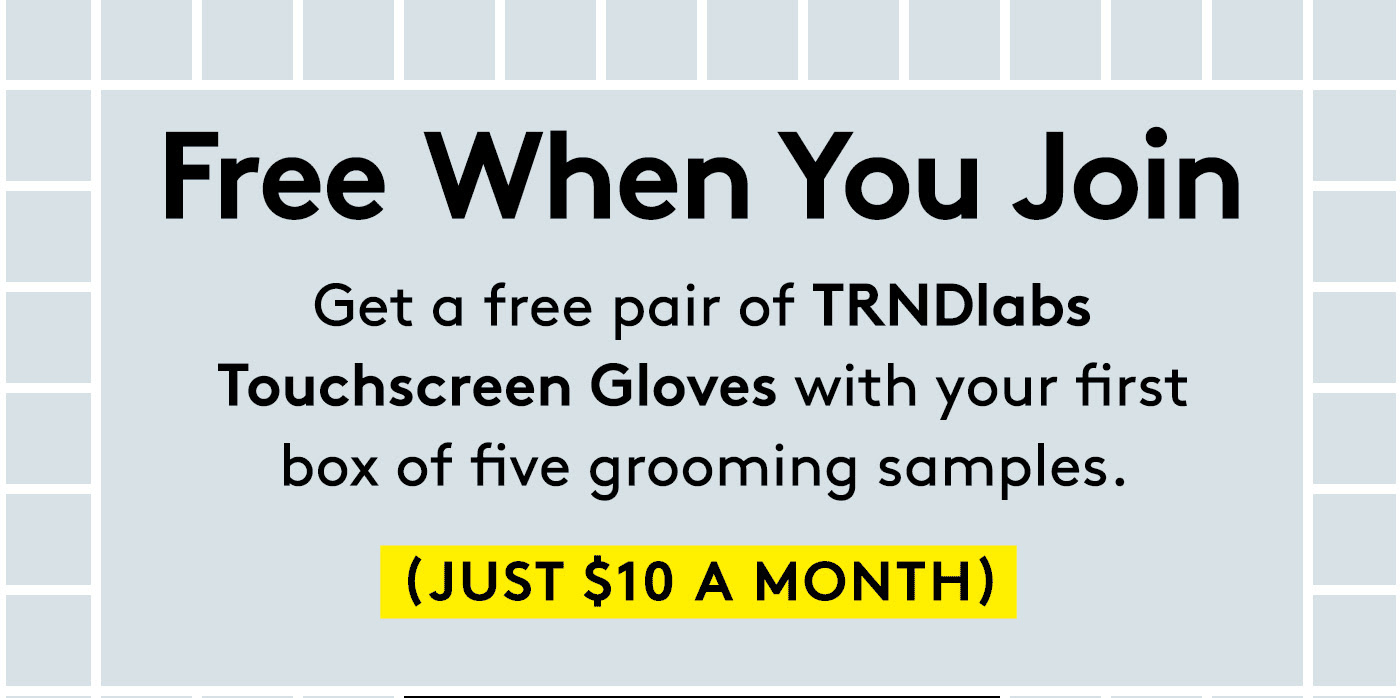 Birchbox Man Coupon: FREE TRNDlabs Touchscreen Gloves With Your First Box!