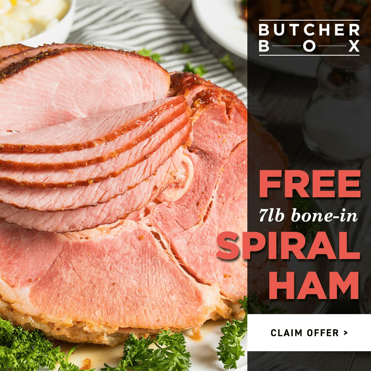 ButcherBox Coupon: Get FREE Holiday Ham with Subscription!