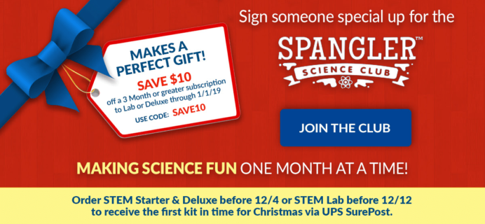Spangler Science Club Coupon: Save $10 On Gift Subscriptions!